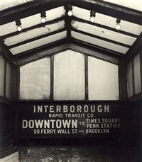 nyc, 1947 [interborough rapid transit] by godfrey frankel